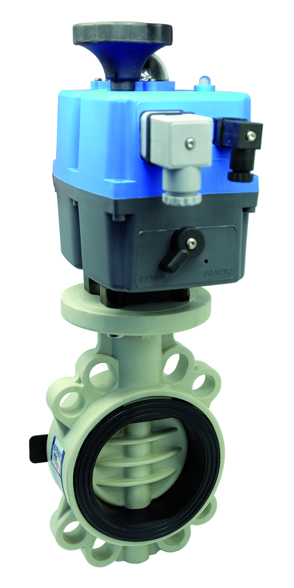 PP-H electric PROFLOW® T butterfly valve - EFFAST - 100% Made in Italy