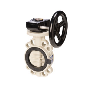 PP-H Butterfly valve PROFLOW T with gearbox - EFFAST - 100% Made in Italy