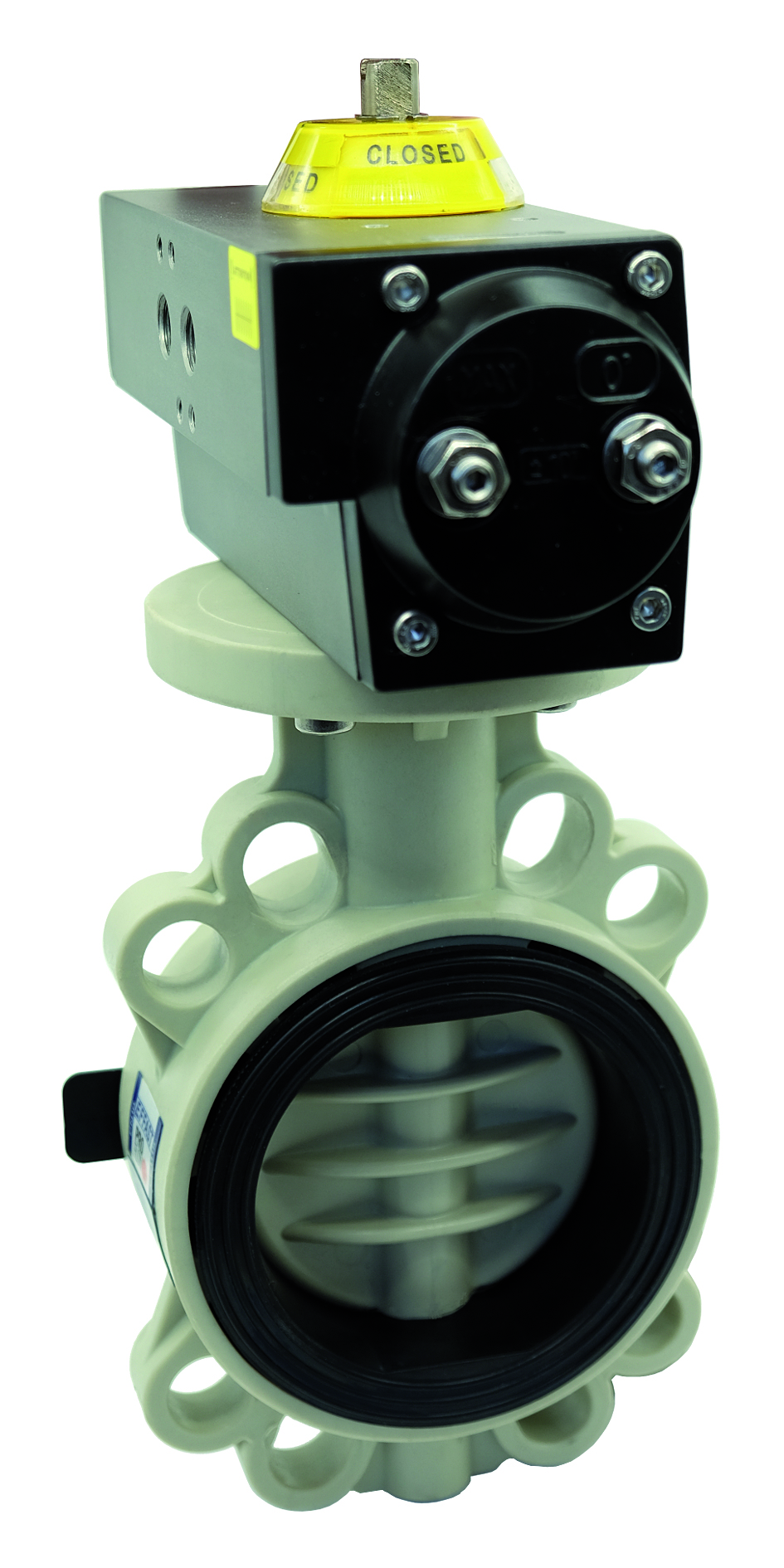 PP-H pneumatic PROFLOW® T butterfly valve- EFFAST - 100% Made in Italy
