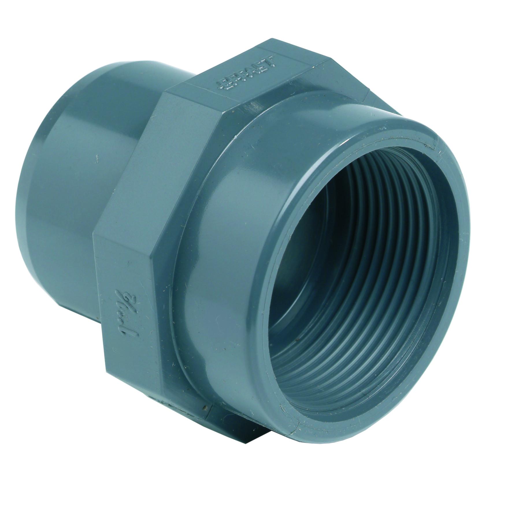 PVC-U female adaptor - EFFAST - 100% Made in Italy