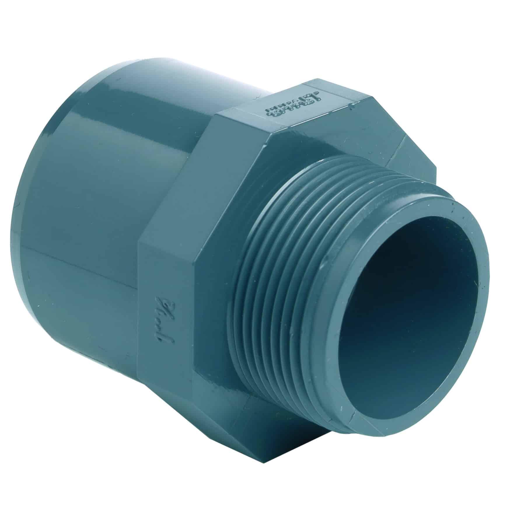 PVC-U male adaptor - EFFAST - 100% Made in Italy
