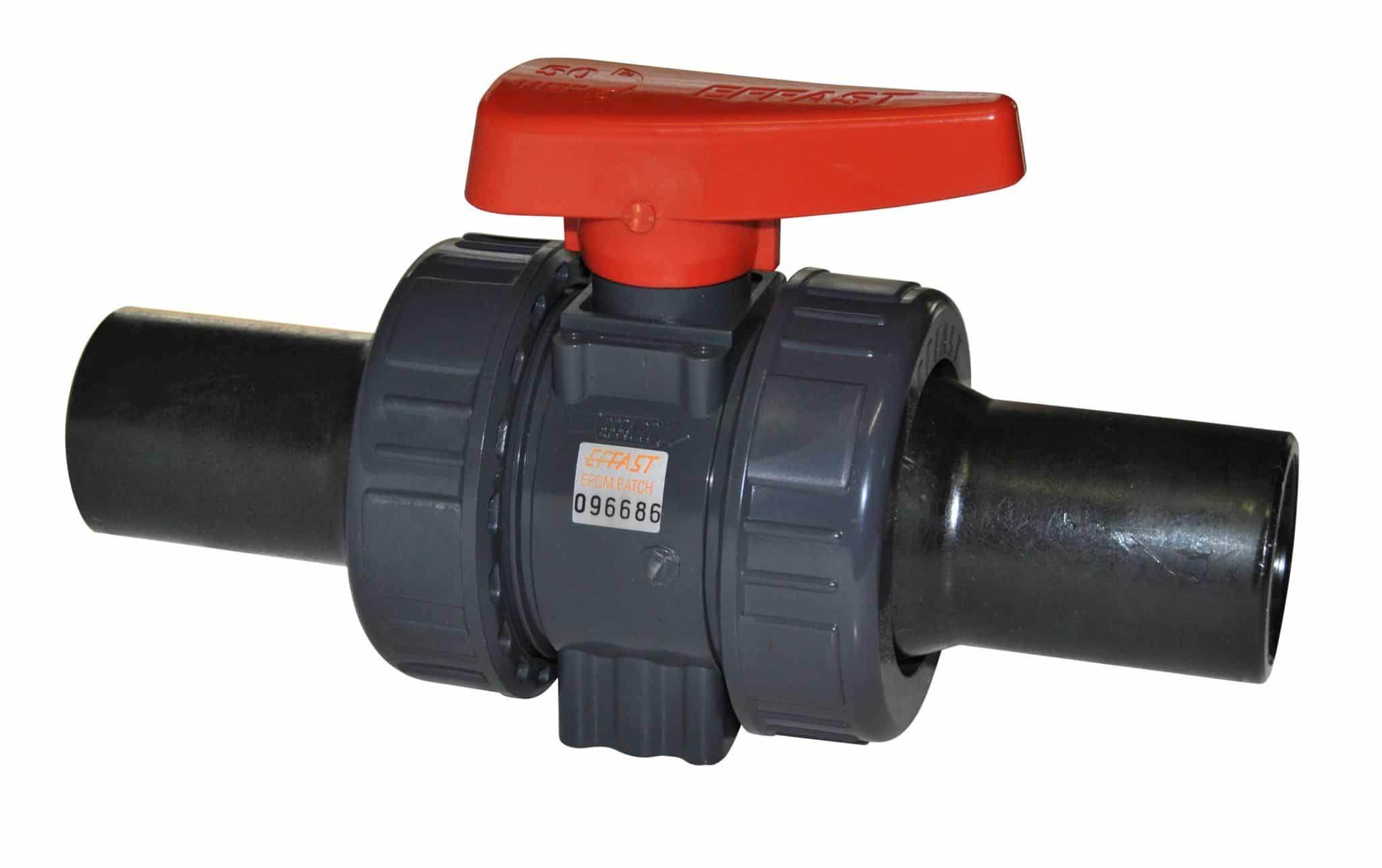 PVC-U Double union ball valve BK1 - EFFAST - 100% Made in Italy