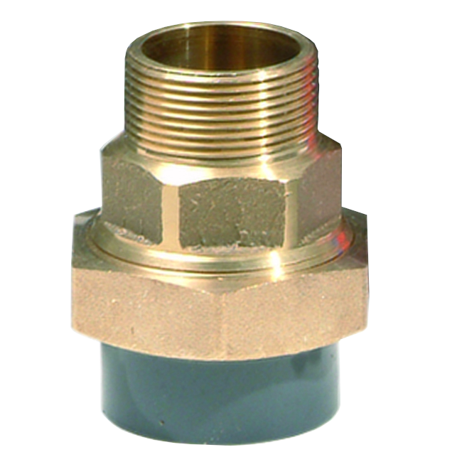 PVC-U/BRASS adaptor union - EFFAST - 100% Made in Italy