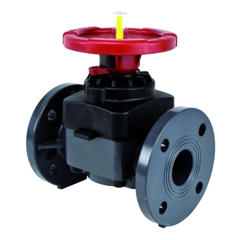PVC-U Diaphragm valve flanged - EFFAST - 100% Made in Italy