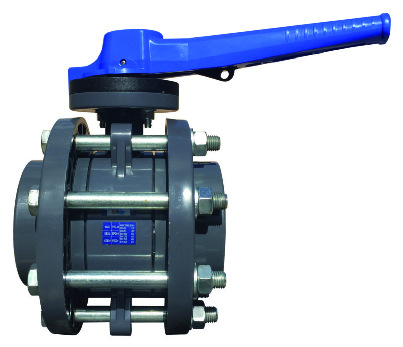 PVC-U Butterfly valve PROFLOW H flanged - EFFAST - 100% Made in Italy
