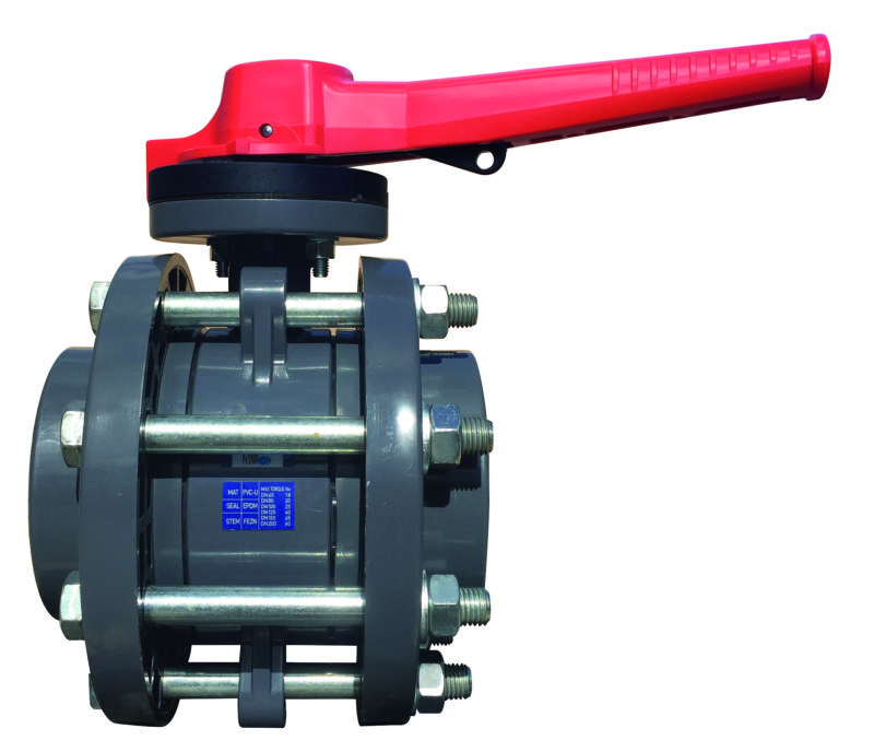 PVC-U Butterfly valve PROFLOW P flanged - EFFAST - 100% Made in Italy