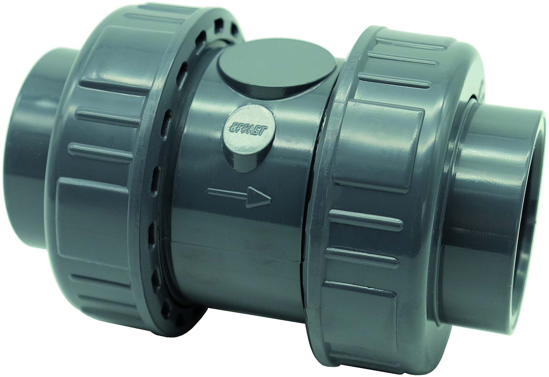 PVC-U double union spring check valve CV - EFFAST - 100% Made in Italy