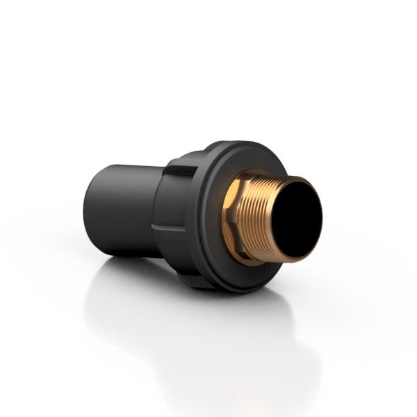 PE 100 adattatore metrico/OTTONE BSPP maschio - EFFAST - 100% Made in Italy