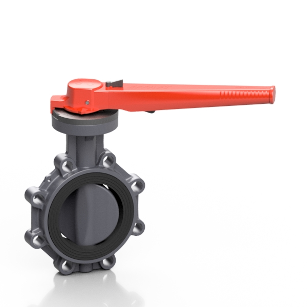 PVC-U PROFLOW® P butterfly valve - EFFAST - 100% Made in Italy