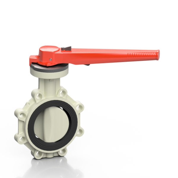 PP-H PROFLOW® T butterfly valve - EFFAST - 100% Made in Italy