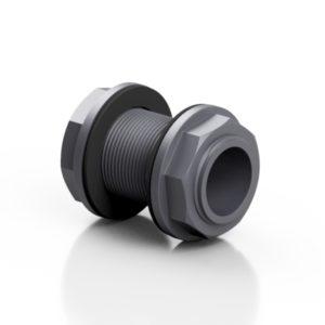 PVC-U tank adaptor with barrel nipple - EFFAST - 100% Made in Italy