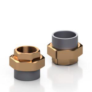 PVC-U/BRASS adaptor union - EFFAST - 100% Made in Italy