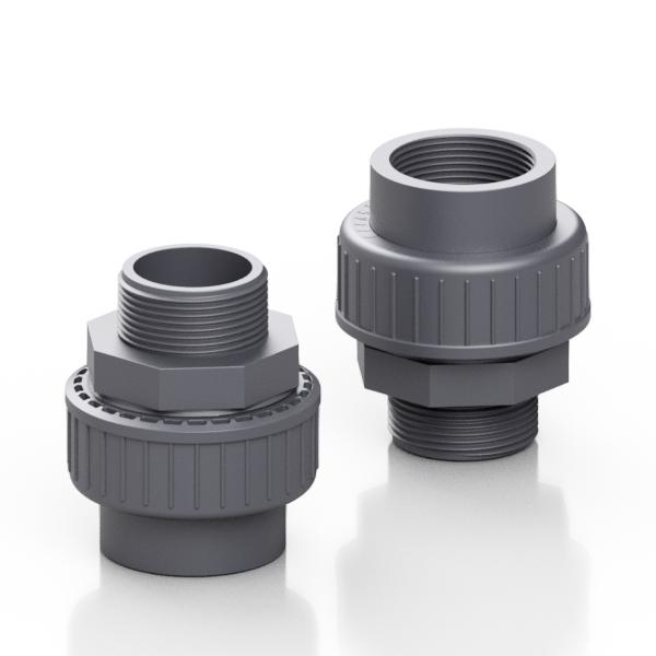 PVC-U adaptor union - EFFAST - 100% Made in Italy