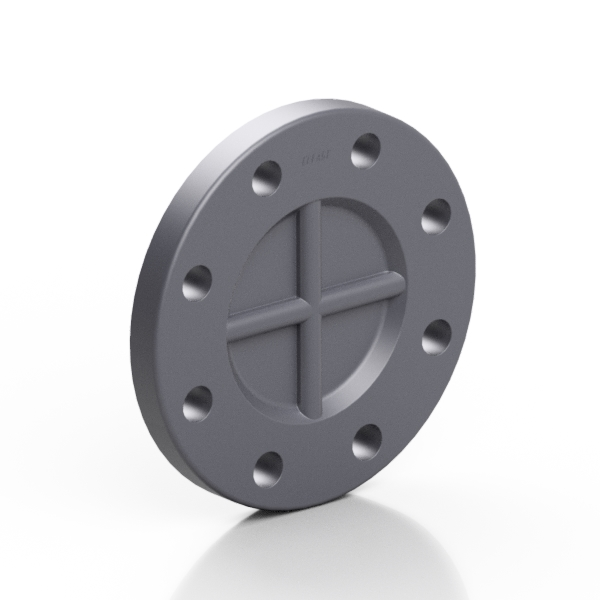 PVC-U blanking flange EN/ISO/DIN - EFFAST - 100% Made in Italy