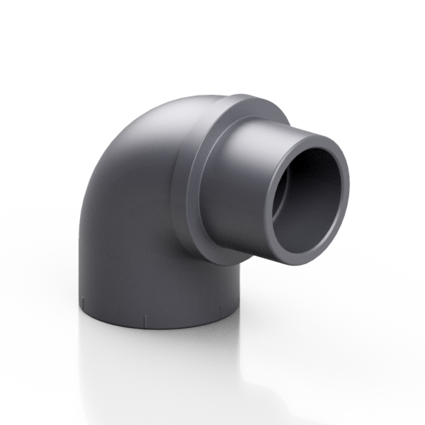 PVC-U reduced elbow 90° - EFFAST - 100% Made in Italy