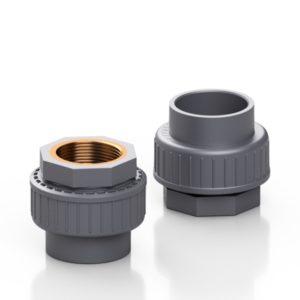 PVC-U/OTTONE bocchettone di passaggio - EFFAST - 100% Made in Italy