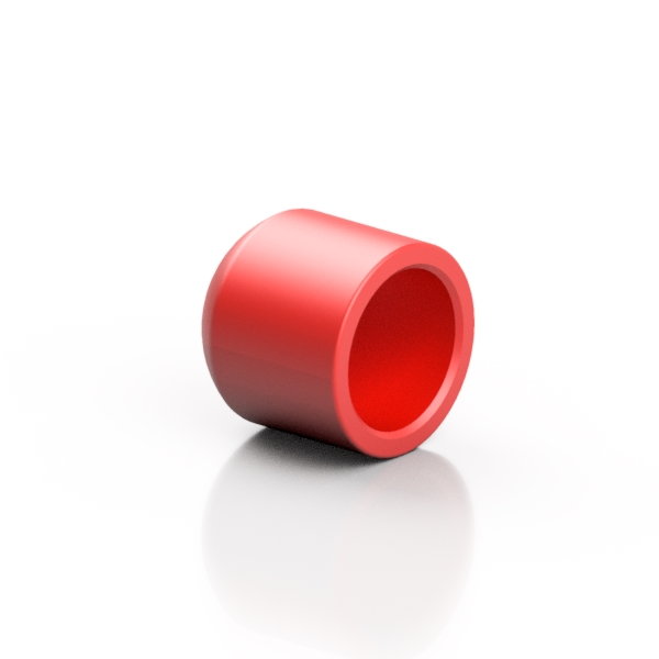 RED ABS end cap - EFFAST - 100% Made in Italy