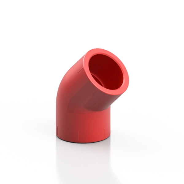 RED ABS elbow 45°- EFFAST - 100% Made in Italy