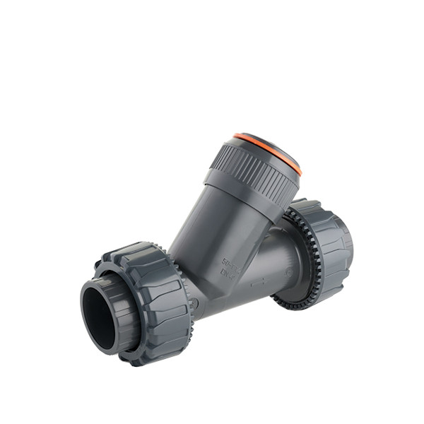 PVC-U angle seat piston check valve - EFFAST - 100% Made in Italy