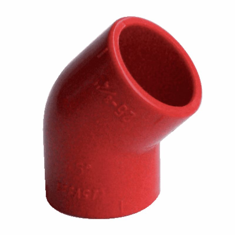 ABS ROSSO gomito 45° - EFFAST - 100% Made in Italy