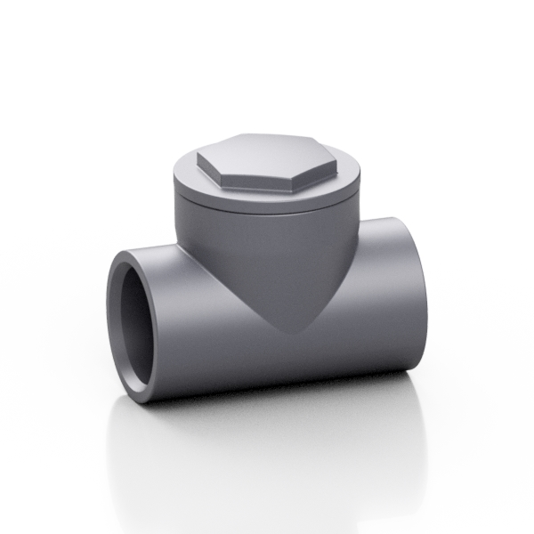 PVC-U tee wafer check valve - EFFAST - 100% Made in Italy