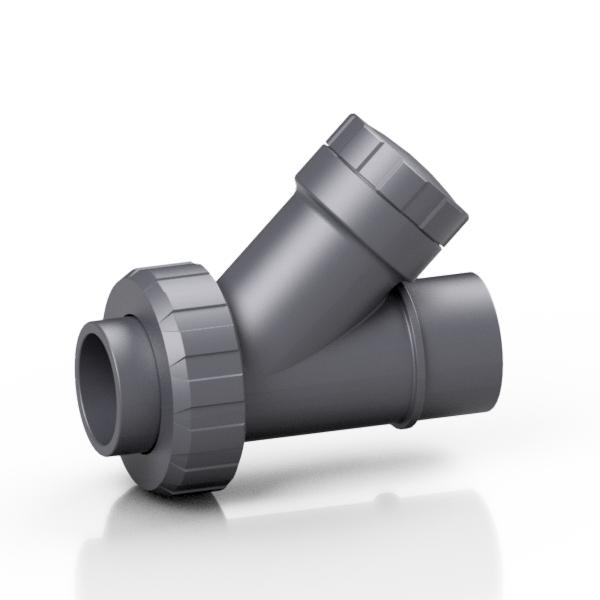 PVC-U valvola di non ritorno a sede inclinata a sfera - EFFAST - 100% Made in Italy