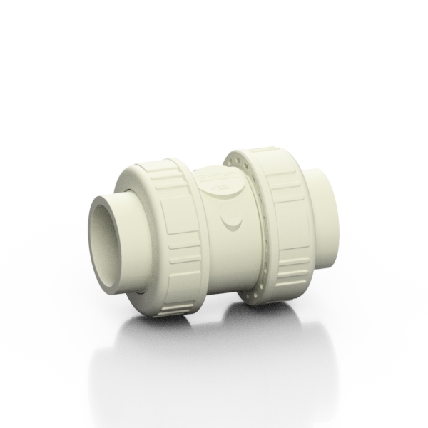 PP-H double union spring check valve CV - EFFAST - 100% Made in Italy