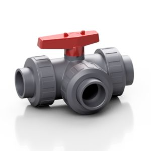 PVC-U 3-way ball valve - EFFAST - 100% Made in Italy