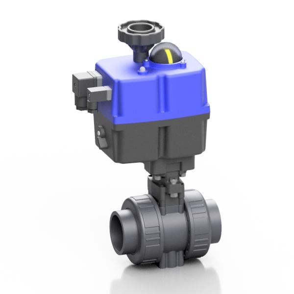 PVC-U valvola a sfera BK1 elettrica - EFFAST - 100% Made in Italy