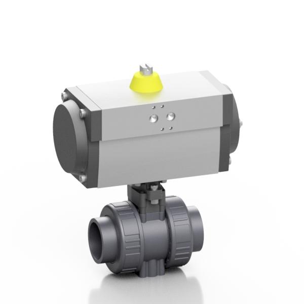 PVC-U valvola a sfera BK1 pneumatica - EFFAST - 100% Made in Italy