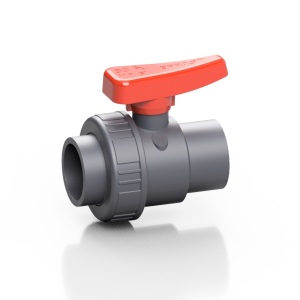 PVC-U valvola a sfera radiale monoghiera SX - EFFAST - 100% Made in Italy