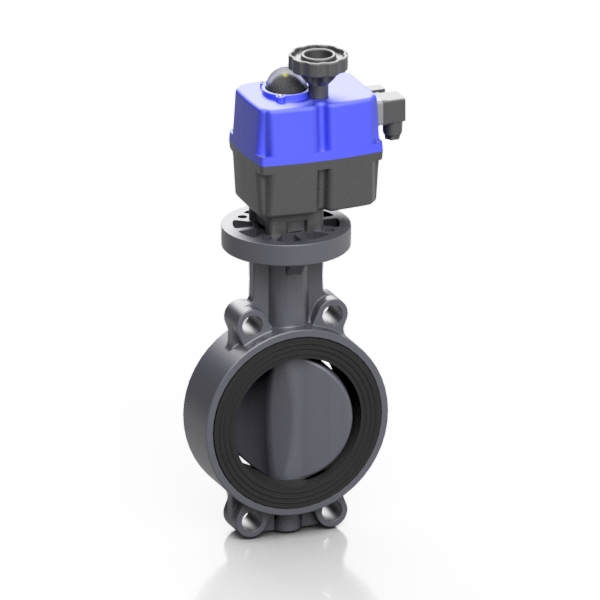 PVC-U electric PROFLOW® H butterfly valve - EFFAST - 100% Made in Italy