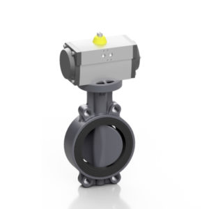 PVC-U pneumatic PROFLOW® H butterfly valve - EFFAST - 100% Made in Italy