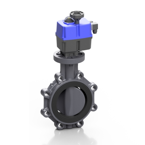 PVC-U electric PROFLOW® P butterfly valve - EFFAST - 100% Made in Italy