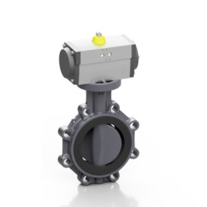 PVC-U pneumatic PROFLOW® P butterfly valve - EFFAST - 100% Made in Italy