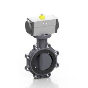 PVC-U valvola a farfalla PROFLOW® P pneumatica - EFFAST - 100% Made in Italy