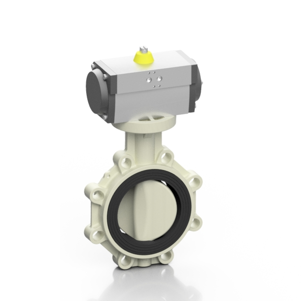 PP-H pneumatic PROFLOW® T butterfly valve - EFFAST - 100% Made in Italy
